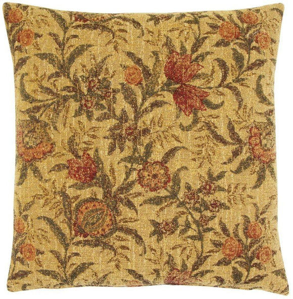 William Morris Pomegrate Tapestry Pillow by Hines
