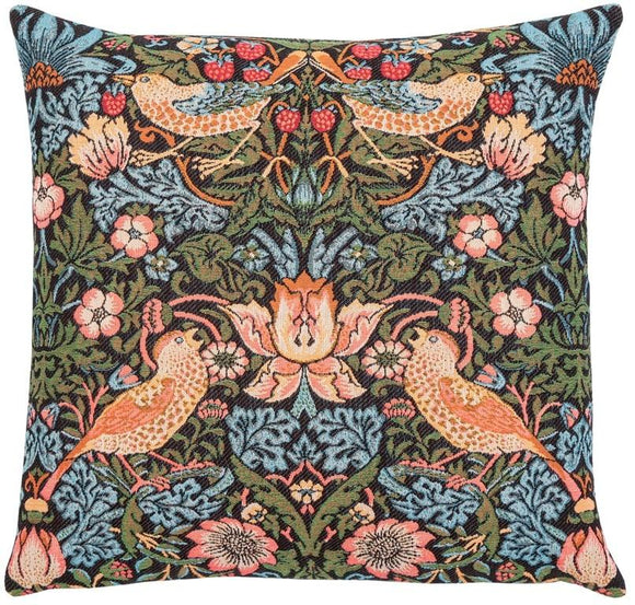 William Morris Strawberry Thief Tapestry Pillow by Hines