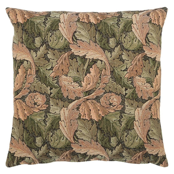 William Morris Acanthus Leaf Gold Tapestry Pillow by Hines