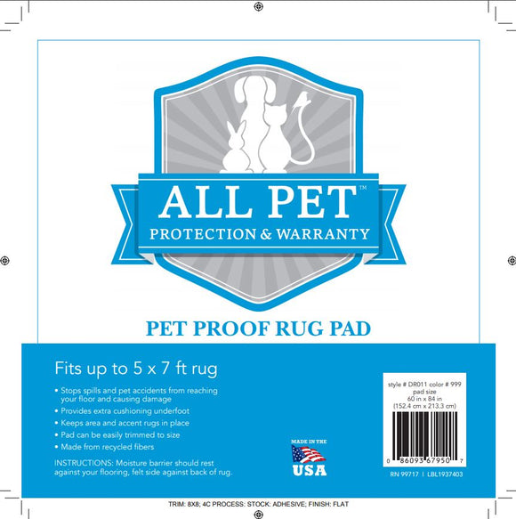 Karastan Rug Premium Pet Proof Rug Pad