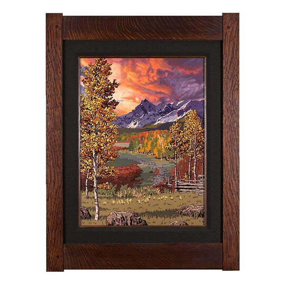 Keith Rust Decor Autumn Palette - Seasonal Landscape Extra Extra Large Coal Black