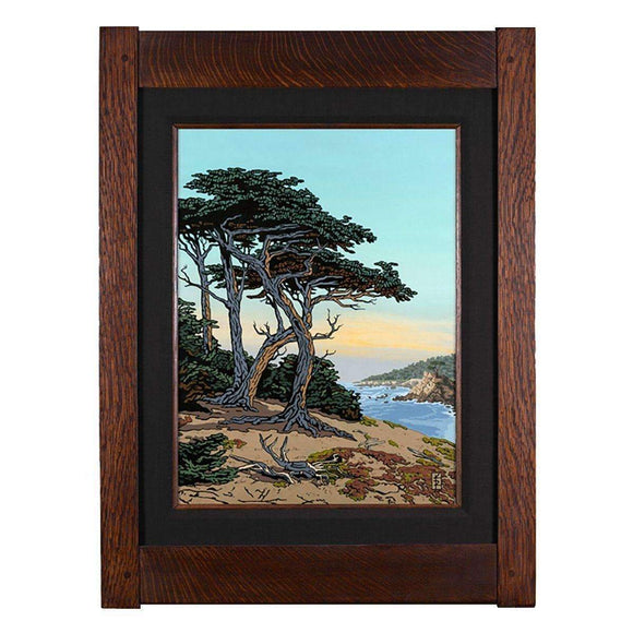Keith Rust Decor Monterey Cypress - California Coast Giclee Extra Extra Large Coal Black
