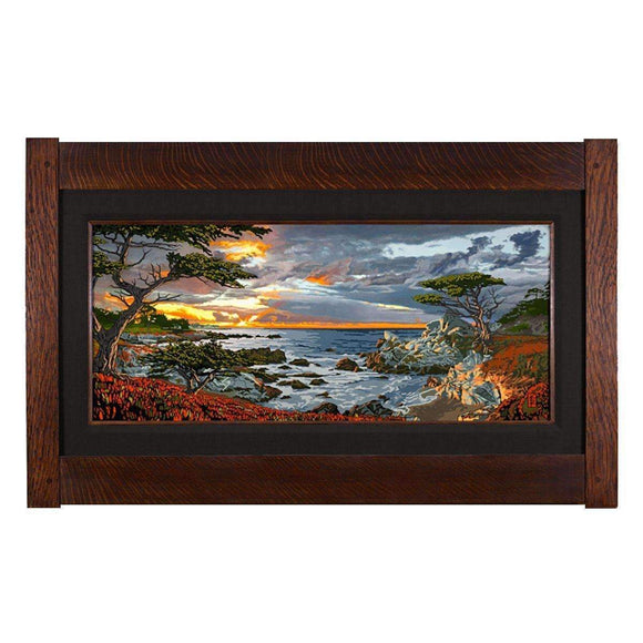 Keith Rust Decor Monterey Shore Giclee Extra Extra Large Coal Black