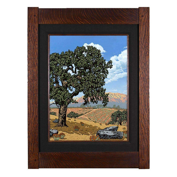 Keith Rust Decor Sentinel Oak - California Valley Giclee Extra Extra Large Coal Black