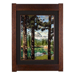 Keith Rust Decor Summer Reflection - Seasonal Landscape Extra Extra Large Coal Black