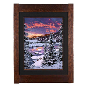 Keith Rust Decor Winter Chill - Seasonal Landscape Extra Extra Large Coal Black
