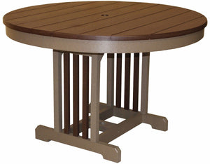 Meadowview Outdoor Furniture 48 Inch Round Mission Table