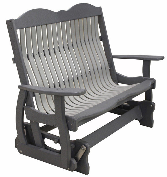 Meadowview Outdoor Furniture Cottage Glider Bench 4 foot