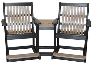 Meadowview Outdoor Furniture Lowback 3 in 1 Settee Balcony High