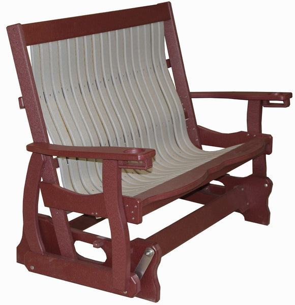 Meadowview Outdoor Furniture Mission Style Glider Bench 4 foot
