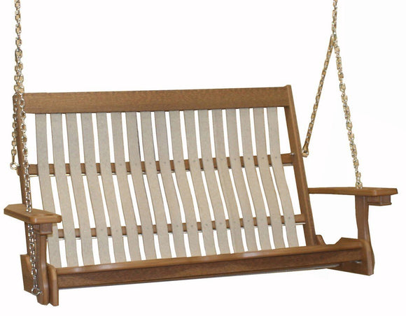 Meadowview Outdoor Furniture Mission Style Swing 4 foot