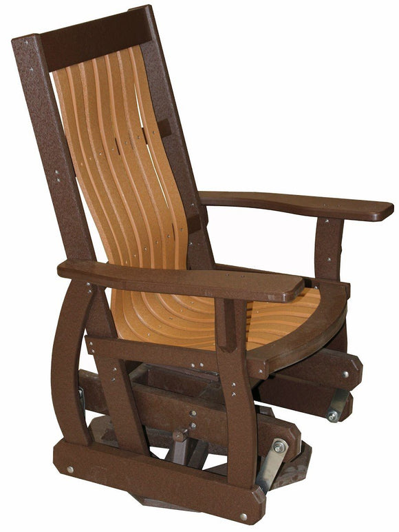 Meadowview Outdoor Furniture Mission Style Swivel Glider