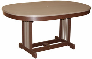 Meadowview Outdoor Furniture Oval Mission Table