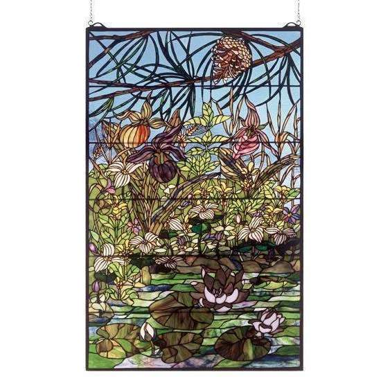 Meyda Decor Woodland Lily Pond Window