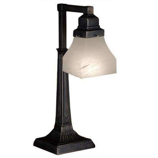 Meyda Lamps Alabaster 1 Light Bungalow Desk Lamp