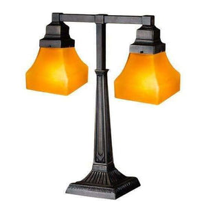 Meyda Lamps Amber 2 Light Bungalow Desk Lamp