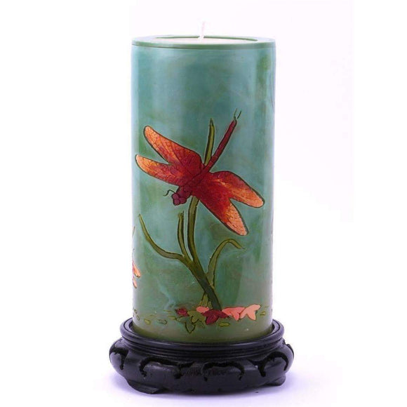 Moon Alley Gifts Handcrafted Dragonfly Candle