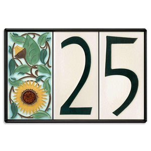 Motawi Exterior Decor Motawi 4x8 House Number Frame