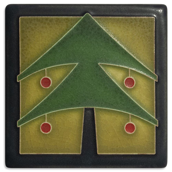 Motawi Gifts 4x4 Christmas Tree-Green