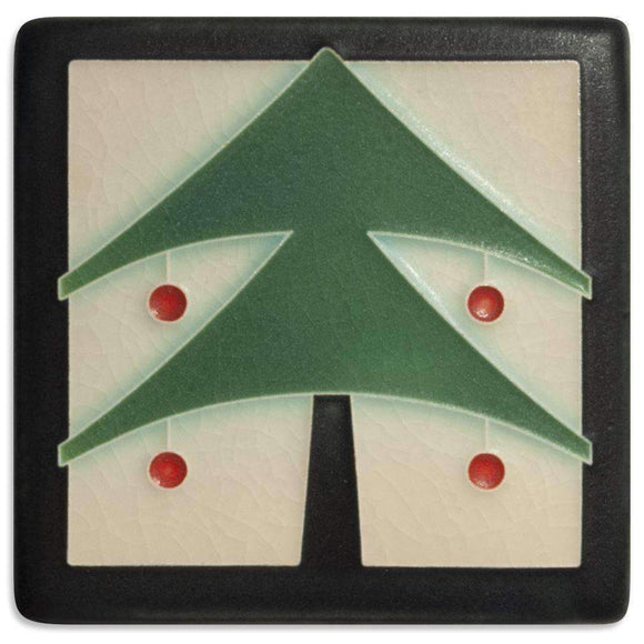 Motawi Gifts 4x4 Christmas Tree-Peppermint