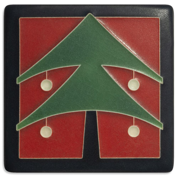 Motawi Gifts 4x4 Christmas Tree-Red