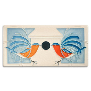 Motawi Gifts Blue Bird Homecoming Tile - 4x8