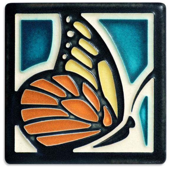 Motawi Gifts Butterfly Turquoise Tile