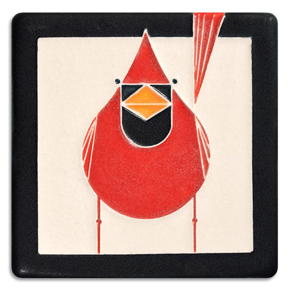 Motawi Gifts Cardinal Red Tile - 4x4