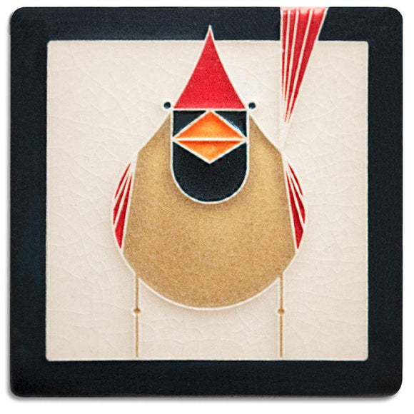 Motawi Gifts Female Cardinal Tile - 4x4