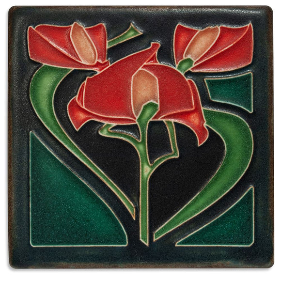 Motawi Gifts Freesia Red Tile