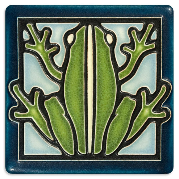 Motawi Gifts Frog Tile- Blue