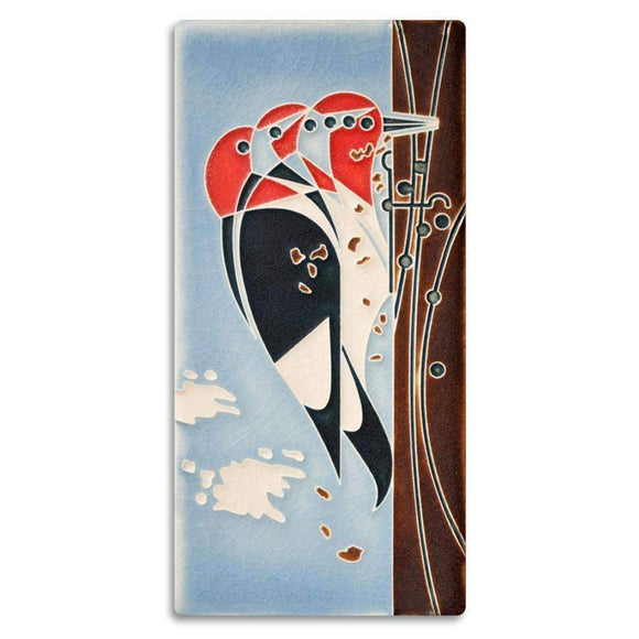 Motawi Gifts Headbanger Bird Tile - 4x8