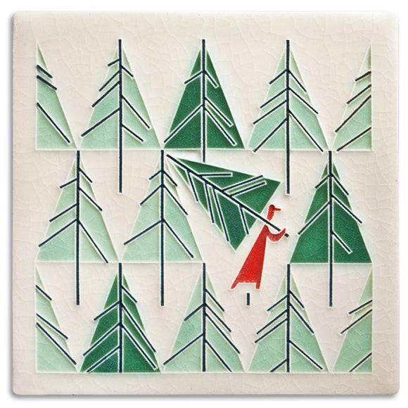 Motawi Gifts Perfect Tree Tile - 6x6