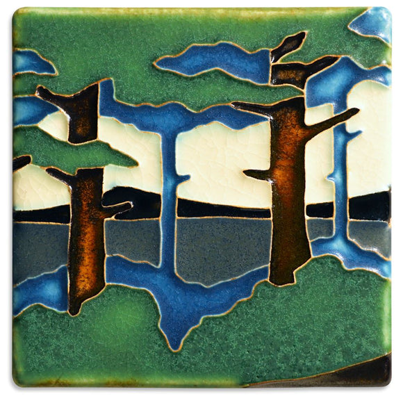 Pine Landscape Valley Tile - 4x4 by Motawi