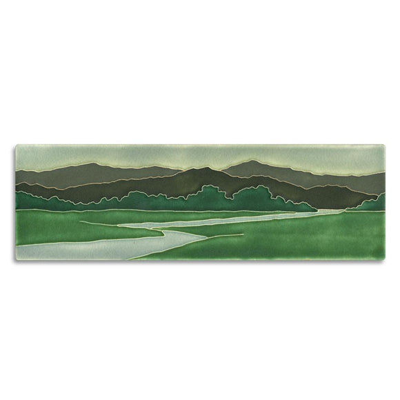 Motawi Gifts Riverscape Green Tile - 4x12