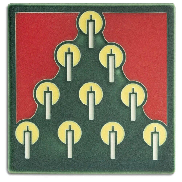 Tannenbaum Green Tile - 6x6 by Motawi