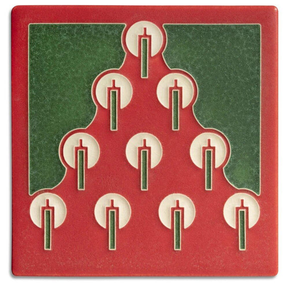 Tannenbaum Red Tile - 6x6 by Motawi