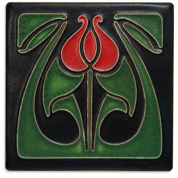 Motawi Gifts Tulip Bud Red Tile