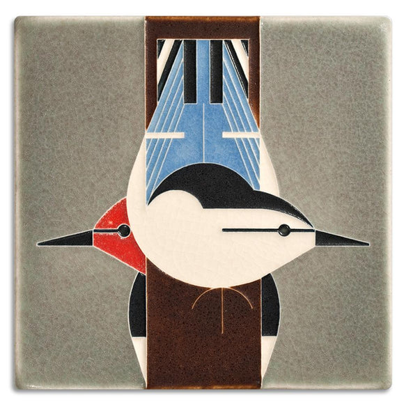 Motawi Gifts Upside Downside Bird Tile - 6x6
