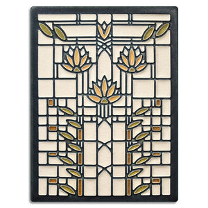 Motawi Gifts Waterlilies Cream Tile - 6x8