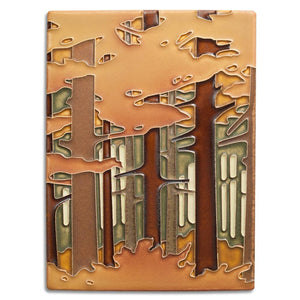 Motawi Gifts Woodland Pine Autumn Tile - 6x8