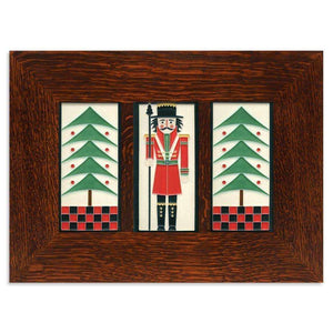 Motawi Tile 4x8 Holiday Trio Framed Tile Set