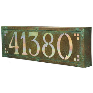 Old California Exterior Decor Pasadena Address Light- Large