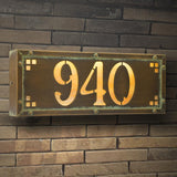 Old California Exterior Decor Pasadena Address Light- Small