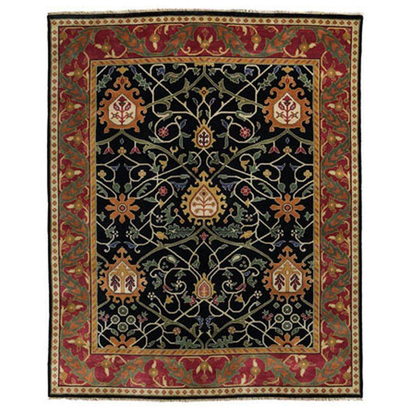 Persian Carpet Rug Black Tree Rug 2x3