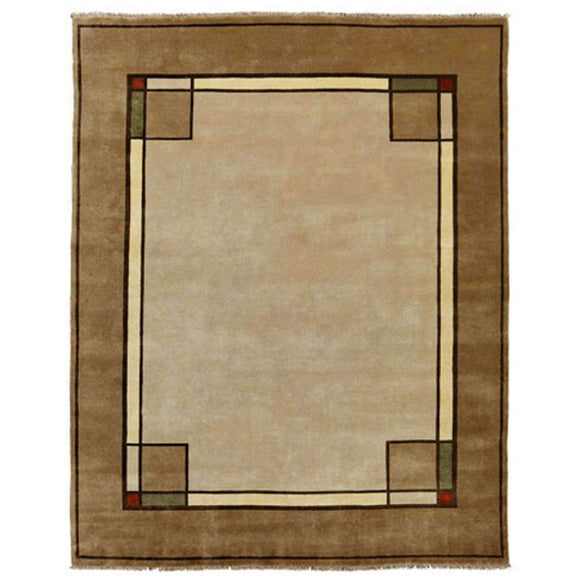 Persian Carpet Rug Ginkgo Border Beige Rug 2x3