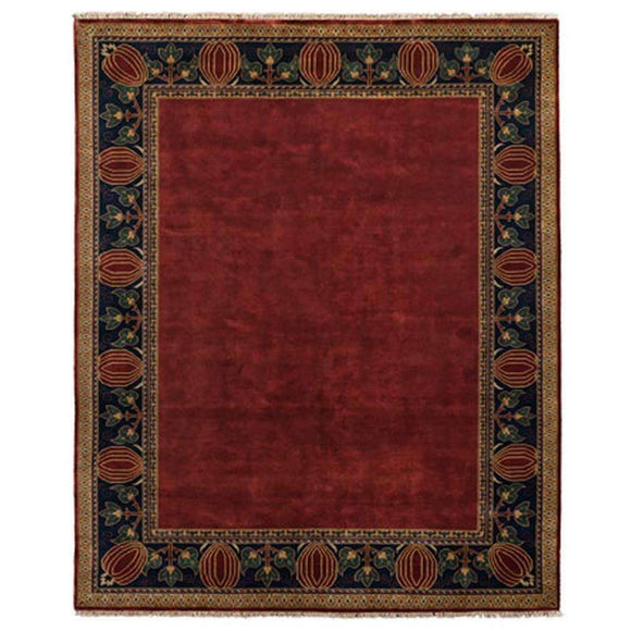 Persian Carpet Rug Oak Park Brick Border Rug 2x3