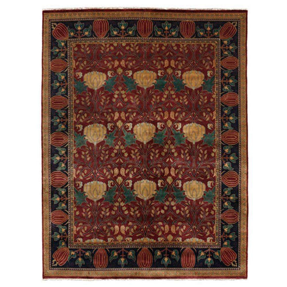 Persian Carpet Rug Oak Park Brick Rug 2x3