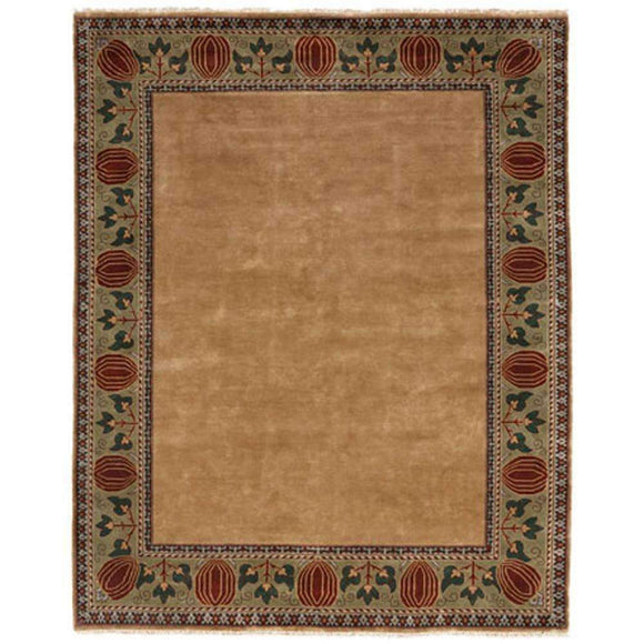 Persian Carpet Rug Oak Park Gold Border Rug