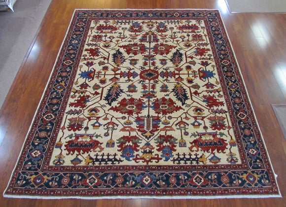 Persian Carpet Rug Persian Classic Cream Rug 10x14